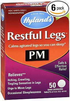 Hyland's Restful Legs PM Quick Dissolving Tablets - 50 Tablets, Pack of 6 by Hyland's Homeopathic