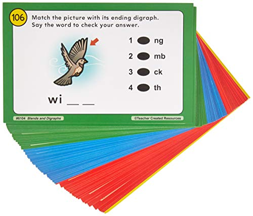 And Digraphs Blends (Teacher Created Resources Power Pen Learning Cards: Blends & Digraphs)