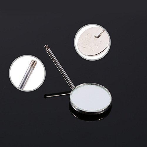 50pcs Dental Orthodontic Mouth Mirrors Handle Plain Mirror Lens Mouth Inspect by Walfront (Image #5)
