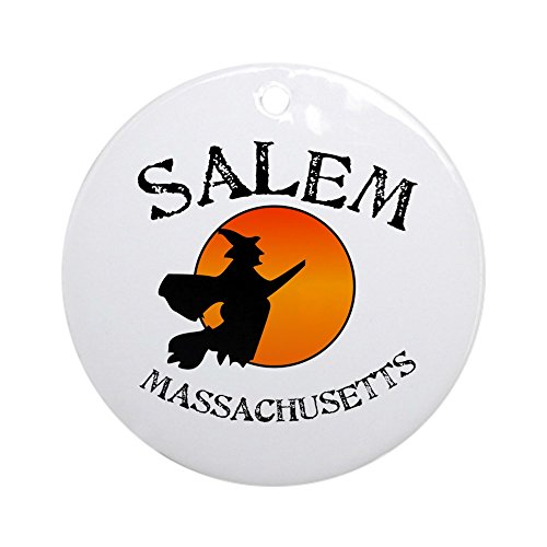 CafePress Salem Massachusetts Witch Ornament (Round) Round Holiday Christmas Ornament -