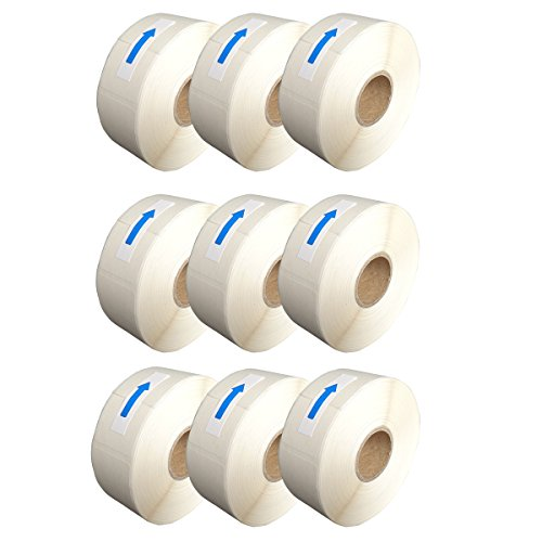 (Blank White 1 x 2 Inch Dissolvable Labels for Food Rotation Prep roll of 500 (9 Packs))