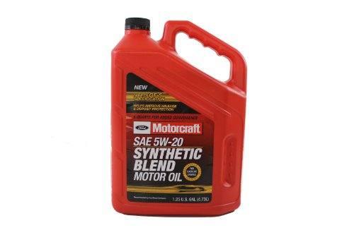 Genuine Ford Fluid XO-5W20-5Q3SP SAE 5W-20 Premium Synthetic Blend Motor Oil - 5 Quart Jug