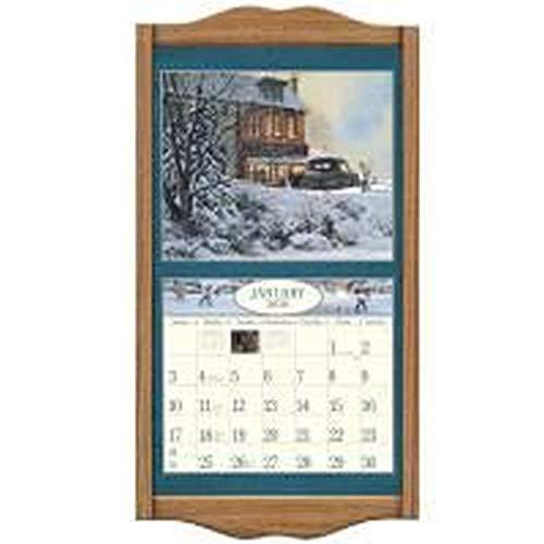 Lang Vertical Soldid Oak Classic Vertical Calendar Frame, 14.3 x 27.5 - Calendar Frame Wall