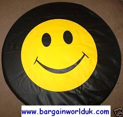 Smiley Face tyre wheel cover - let us know what size you want BargainworldUK