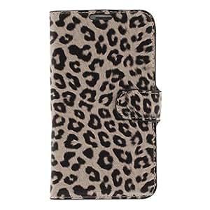 Conseguir Patrón de la impresión del leopardo de imitación de cuero PU y duro volver cubierta de bolsa para Samsung Galaxy Nota 2 N7100 , Blanco