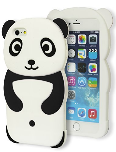 cheap for discount 50e8b 01f23 iPhone 6 Plus Case, Bastex 3D Soft Silicone Protective Black and White  Happy Panda Design Case Cover for Apple iPhone 6, 5.5 Plus