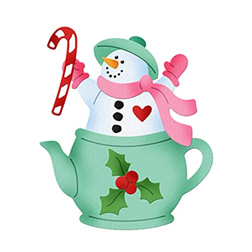 Fangfang Christmas Snowman Santas Cutting Dies DIY Metal Scrapbooking Stencil Card Making Embossing Paper for Christmas Decoration (Style 3)