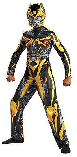 [UHC Boy's Bumblebee Classic Kids Child Fancy Dress Party Halloween Costume, S (4-6)] (Plus Size Deluxe Bumblebee Costumes)