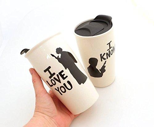 Han and Leia Star Wars Eco Travel Mug Set