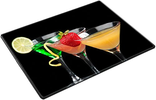 Martini Twist (MSD Place Mat Non-Slip Natural Rubber Desk Pads design: 35010958 Three cocktails cosmopolitan cocktails decorated with citrus lemon twist yellow martini drink with strawb)