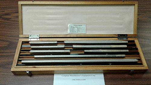 8 PCS/SET Large Metric Gage Block Set DIN861 GRADE 1,calibrated certs,#702F-8 by CME