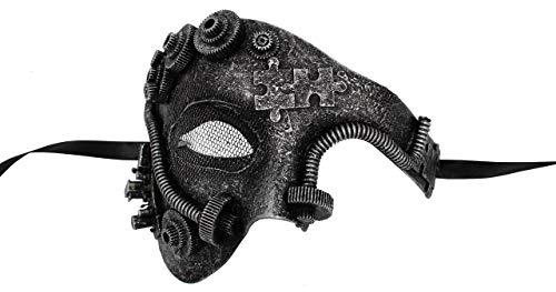 Luxury Mask Men's Phantom of The Opera Half Face Masquerade Mask Vintage Design Steampunk