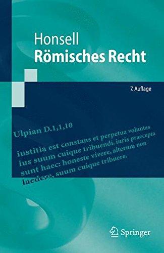 Römisches Recht (Springer-Lehrbuch) (German Edition) Taschenbuch – 22. März 2010 Heinrich Honsell 3642053068 Recht / Allgemeines Lexika