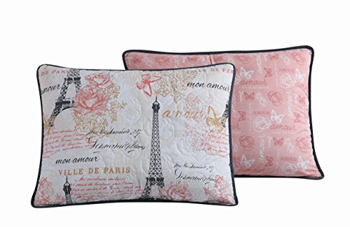 Avondale Manor Amour 5-Piece Quilt Set, Queen, Pink ()