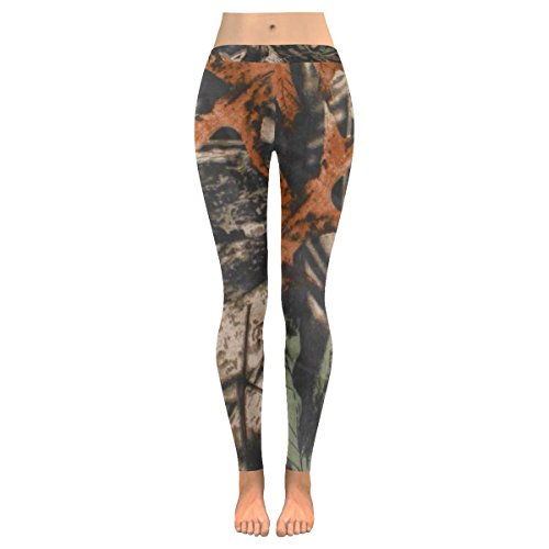 INTERESTPRINT Realtree Camo Camouflage Custom Stretchy Capri Leggings Skinny Pants for Yoga Running Pilates Gym M