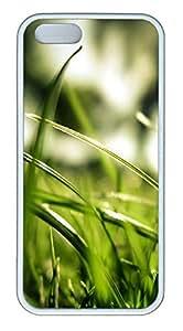 iPhone 5 5S Case Nature Grass Light TPU Custom iPhone 5 5S Case Cover White