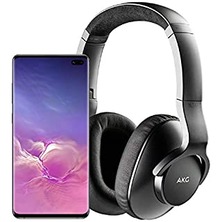 Samsung Galaxy S10+ Plus Factory Unlocked Phone with 1TB (U.S. Warranty), Ceramic Black w/AKG N700NC M2 Headphones