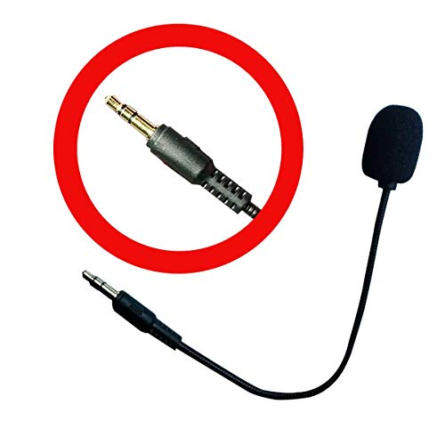 Replacement Microphone Boom Mic 3.5mm Compatible for Turtle Beach Ear Force Gaming Headsets Xbox One PS4 Nintendo Switch Mac PC Computer Gaming Headphones (MIC-3.5MM)