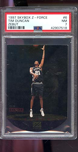 5810e48da1f81 1997-98 Skybox Z-Force Zebut Z Force #6 Tim Duncan ROOKIE RC NM PSA 7  Graded NBA Basketball Card