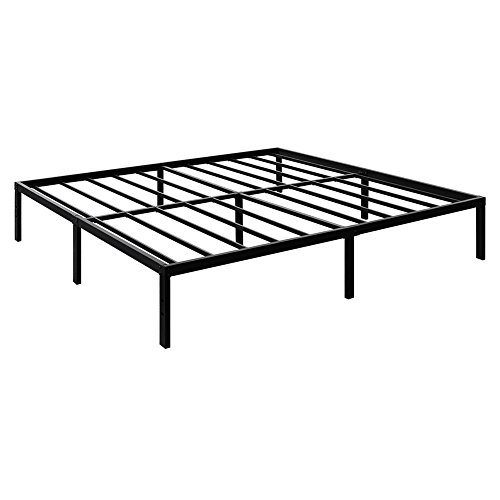 (TATAGO 3000lbs Max Weight Capacity 16 Inch Tall Heavy Duty Metal Platform Bed Frame Mattress Foundation, Extra-Strong Support &Non-Slip, No Noise & No Box Spring Need for Saving Money,)