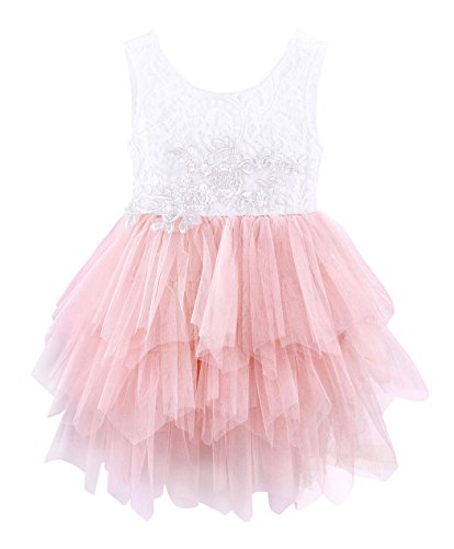 - HenzWorld Toddler Little Girls Embroidered Flower Girl Birthday Party Daddy-Daught Dress Wedding Outfits 3T 2-3 Years