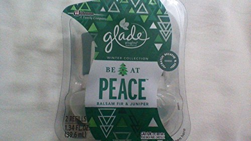 10 Glade BE AT PEACE BALSAM FIR & JUNIPER Refill PlugIns Scented Oil Spruce 5pak