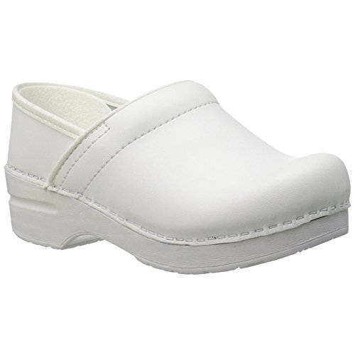 Clogs White Leather - Dansko Wide Pro Women Mules & Clogs Shoes, White�Box, Size - 37