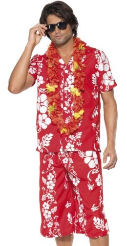 Smiffy's Adult Hawaiian Luau Party Tourist Mens Halloween Costume Medium ()