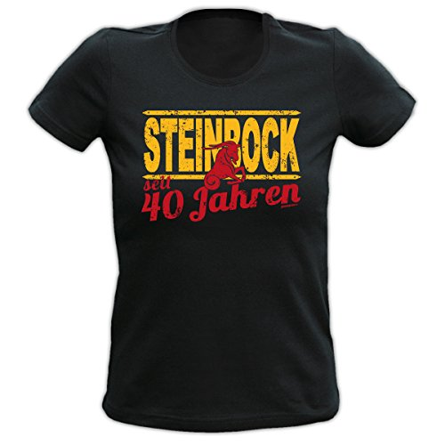 Lady Shirt 40 Jahre Steinbock Damen Shirt Geburtstag Geschenk T-Shirt geil bedruckt Goodman Design