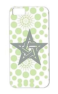 Pentagram 2 Gray Star Pentagon Wiccan Symbols Five Pointed Magic Witch Pentalpha Pentangle Pentagram Shapes For Iphone 5c Anti-drop Case