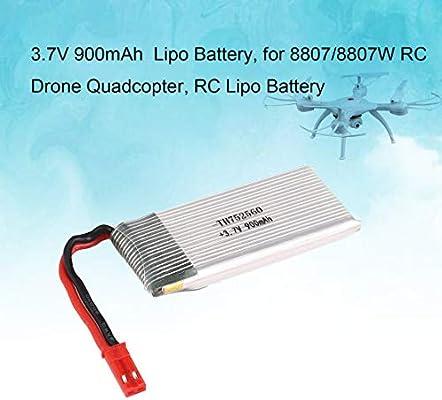 Sanzhileg 2PCS 3.7V 900mAh Li-po para 8807 / 8807W RC Drone ...