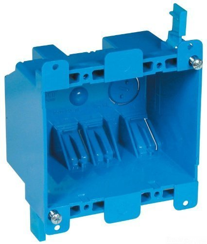 Carlon B225R-UPC Switch/Outlet Box, Old Work, 2 Gang, Blue 3