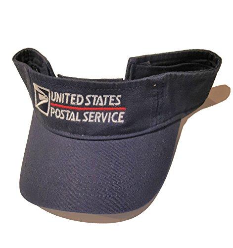 USPS Postal Post Office Low-Profile Twill Visor Wide Brim Sun Cap Hat Cotton Navy Anvil by PCA Etc