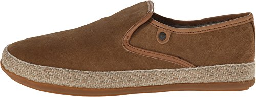 Base London SOUND Mens Suede Leather Espadrille Loafers Tan 43