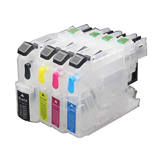 INKWAY 1Set Empty refillable Ink Cartridge with ARC chip for LC201 LC203 Compatible with Brother MFC-J460DW J480DW J485DW J680DW J880DW J885DW Printer