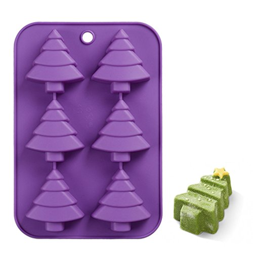 Meao Non Stick Silicone Baking Molds for Cake, Muffin, Chocolate, Jelly and Candy - Christmas Series (Christmas Tree)