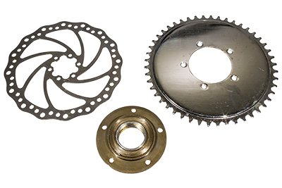 26'' Heavy Duty Rear Bike Wheel & Freewheel Axle Kit For Motorized Bicycles - Gas Bike Engine Rim 44 Tooth Sprocket - Disc brake Rotor by Brilliant (Image #2)