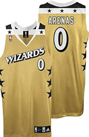on sale 92d46 7e6f0 Amazon.com : Gilbert Arenas Old Gold adidas NBA Authentic ...