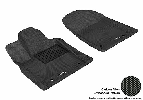 (3D MAXpider Front Row Custom Fit All-Weather Floor Mat for Select Dodge Durango / Jeep Grand Cherokee Models - Kagu Rubber (Black))