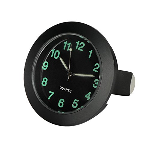 CARGOOL Car Dashboard Clock Mini Vehicle Clock Air Vent Clock, Perfect Decoration for Cars, SUV and MPV, Black