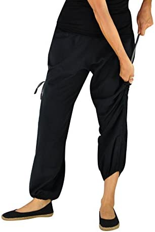 Size M black comfortable pants from Nepal handmade 100/% cotton