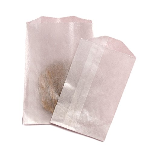 100 - Flat Glassine Waxed Paper Bags - Small (3-1/4