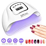 UV Gel Nail Lamp,80W Nail Dryer LED UV Light for