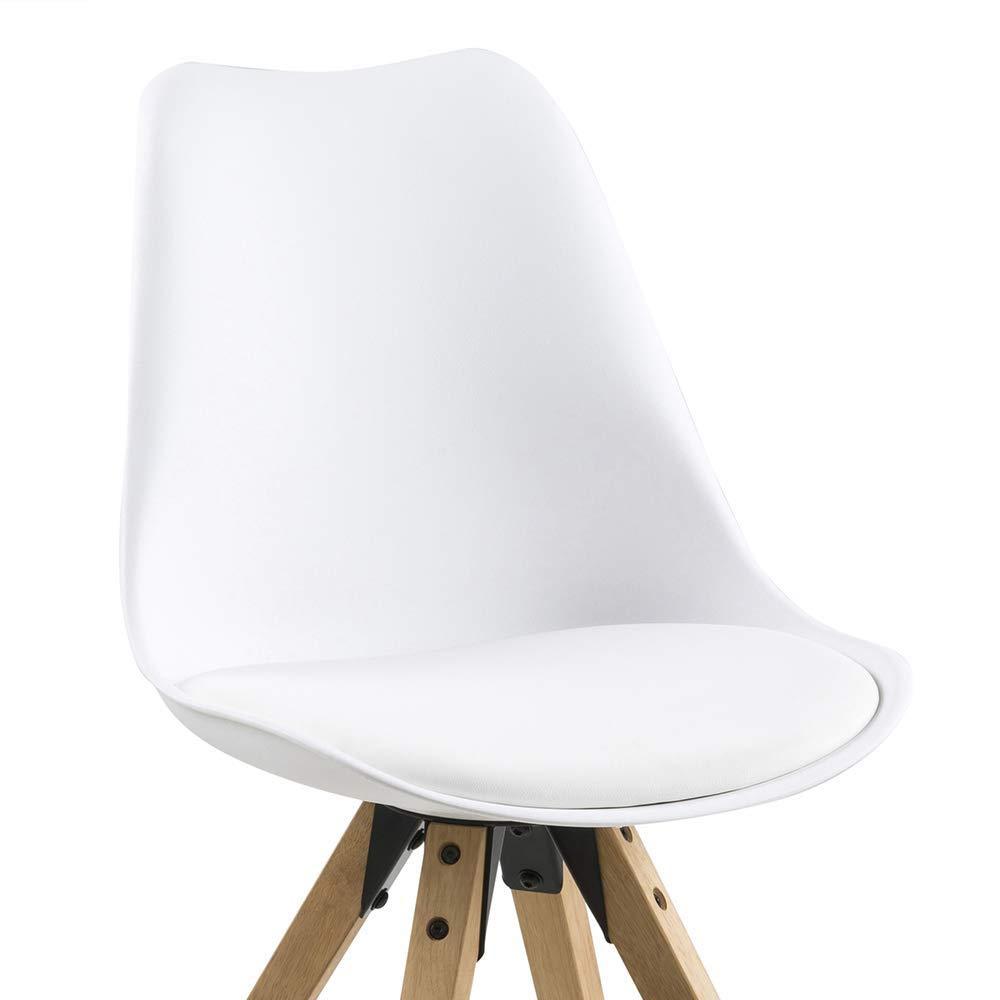 set da 2 colore bianco sedie da pranzo Movian Tima