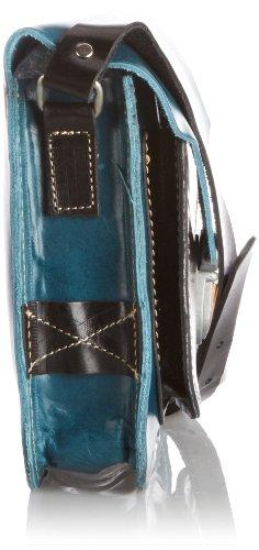 Fly London Alba - bolso mujer azul - Blue/Black