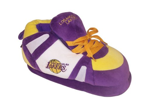 Happy Feet Comfy Feet Mens and Womens Officially Licensed NBA Sneaker Slippers Los Angeles Lakers vD1ZmVbKwp