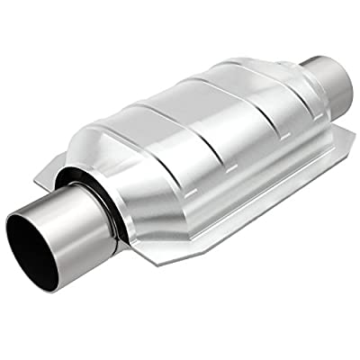 MagnaFlow 338103 Large Stainless Steel CA Legal Universal Fit Catalytic Converter