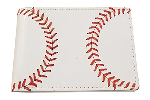 BallPark Leather Youth Leather Baseball Seam Bi-fold Wallet
