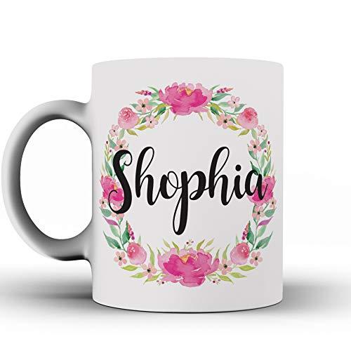 Custom Name water Flower, Funny Mug, water Flower, Girls, Best Friends, Mug, - Girl Mug Flower