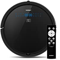 Tenergy Otis Robot Vacuum Cleaner, Max Power Suction Robotic Vacuum, Self-Charging, Smart Sensor, HEPA Pet Hair Filter Allergens Friendly, Remote Control Vacuum Cleans Hard Floors/Thin Carpets